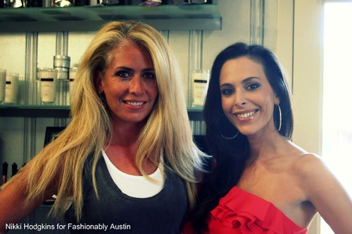 Kristi Stavrou, account rep for CATTIVA, and Joelle Maryn, makeup artist and creator of CATTIVA cosmetics
