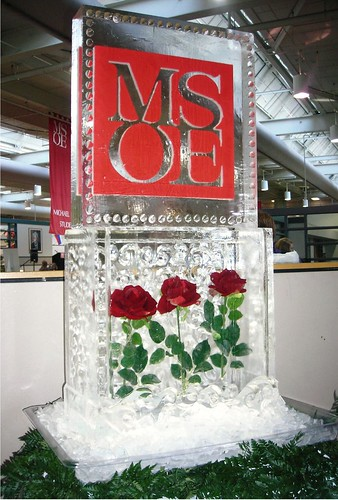 MSOE ice sculpture