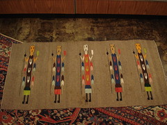 "NAVAJO YEI RUG, C. 1930'S. • <a style=""font-size:0.8em;"" href=""http://www.flickr.com/photos/51721355@N02/6083311416/"" target=""_blank"">View on Flickr</a>"