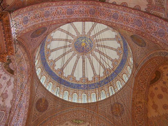 藍色清真寺的大圓頂