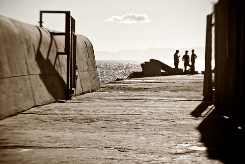 The breakwater at Gordon's Bay