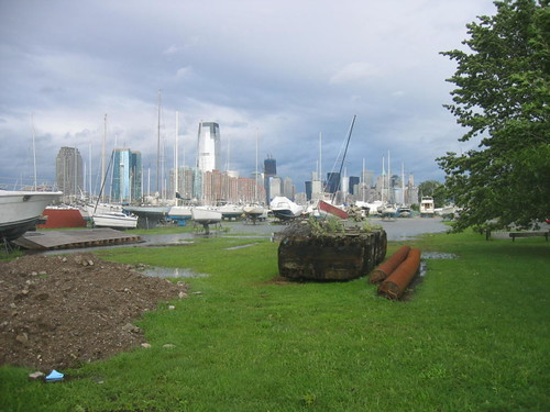 Dry dock, Liberty State Park (now the boats are sitting in water)