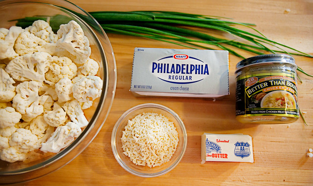 "Ingredients for ""Caulitaters"" (Mock Mashed Potatoes)"