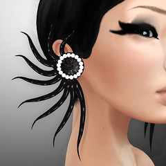 FINESMITH - NOIR  EARRINGS (Xenobia Foxclaw) Tags: slfashion secondlifefashion noircollection finesmithjewelry yulafinesmith finesmithdesigns