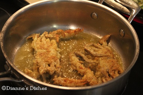 Pan Fried Soft Shell Crab: Frying the Tops