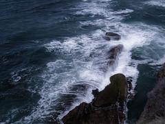 Surf, Central Oregon Coast (Dennis_Dean) Tags: ocean light sea cliff nature water rock oregon coast ancient surf peace view pacific outdoor tide devils scenic wave otter geology contemplative cascade punchbowl oregonapril2011 devilspunchbowlstparkotterrock