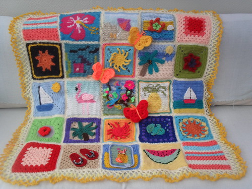 Such a bright and cheery Blanket.