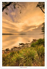 Sunset Over A Calming Lake (Damon | Photography) Tags: sunset sky cloud sun mountain lake mountains beach set clouds nikon skies sigma australia tasmania mm tasa sigma1020mm d90 nikond90 ausse
