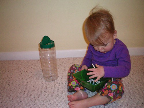 Putting Straws in a Container (Photo from Growing a Godly Girl)
