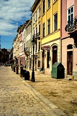 View of the old street of Lviv (Lisovyk) Tags: lviv ukraine abigfave nikond5100