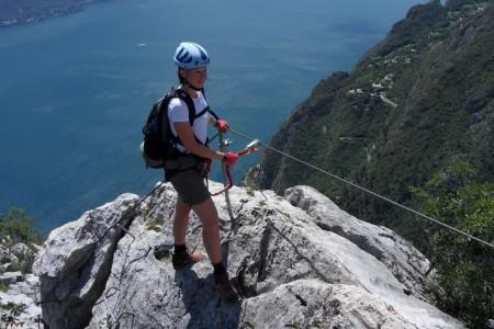 Via ferrata Fausto Susatti a její famózní výhledy na Lago di Garda