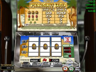 Pharaohs Gold Slot Machine