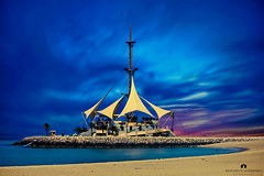Kuwait - Marina Waves (Abdulaziz ALKaNDaRi | Photographer) Tags: sea beach colors marina canon landscape photography eos flickr waves shot explore kuwait hq ef q8 2011  abdulaziz   24105mm kuw 550d   t2i  alkandari abdulazizalkandari