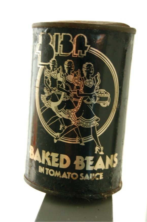 Biba tin of baked beans