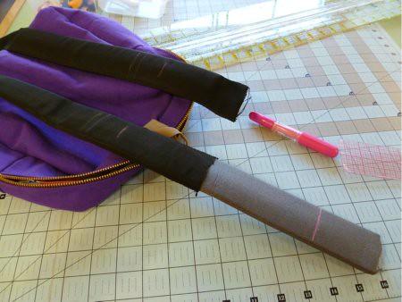 Altering backpack strap