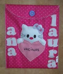 Carteira de Vacina Hello Kitty (edilmarasantiago) Tags: baby handmade artesanato artesanal craft felt beb nenm feltro carteirinha vacina fieltro gestante vacinao matrnidade carteiradevacinao