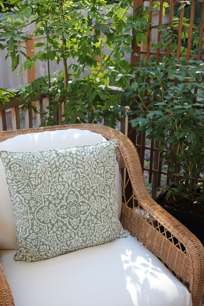 Wearing White {Slipcovers} After Labor Day {Finally, Back Deck Progress Check-In!}