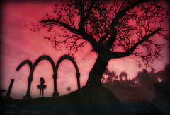 Arched Silhouette (Luminis Kanto) Tags: landscape ruins dramatic sl secondlife athan siljouette
