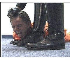 Cop bootlick 3 (TBTAOTW2011) Tags: black men leather boot worship uniform shine boots domination police polish lick cop academy abuse prisoner dominant humiliation bootlick
