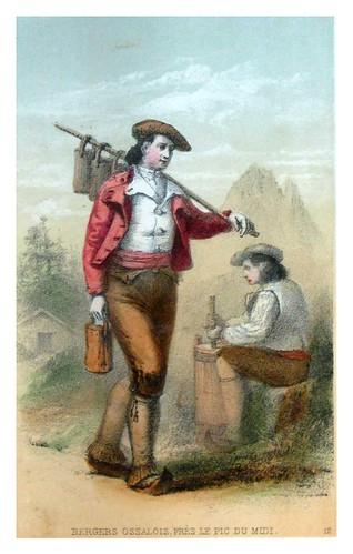 013-Pastores de Ossalois cerca del Pico del Mediodia-Costumes pyrénéens-1860