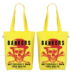 Bankers Yellow Bag (press@bouf.com) Tags: bag bouf shoppingbag banker bankers organicbag oneeyedman boufcom