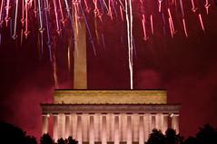 2011 - Fourth of July - Symbols for Superman (mosley.brian) Tags: longexposure nightphotography washingtondc dc washington fireworks fourthofjuly lincolnmemorial dcist 4thofjuly washingtonmonument independenceday fourthofjuly2011 4thofjuly2011