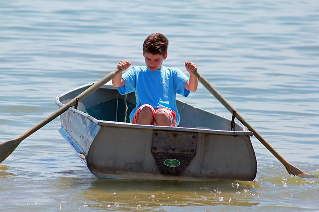 Joey in boat 3