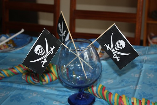 sjørøverflagg-pynt