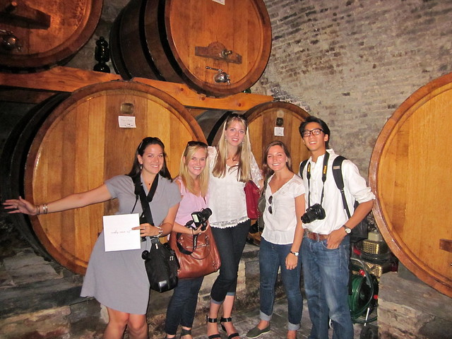 Students Wine Tasting in Tuscany