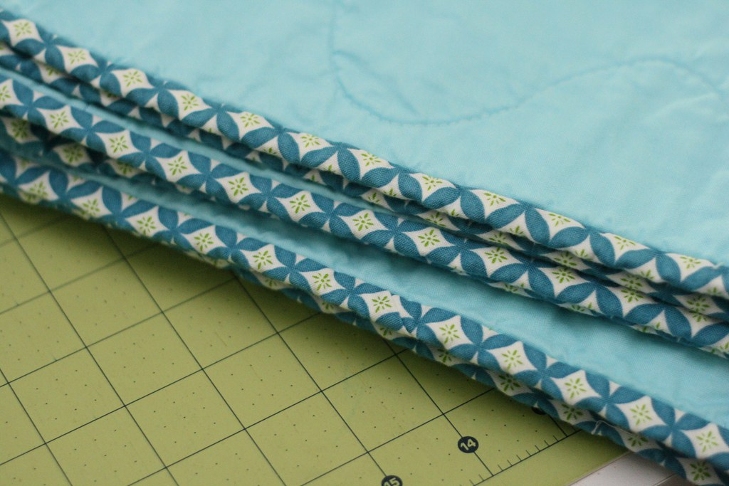 binding to Ogee/Curlicue Crush Quilt