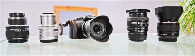 Panasonic G3 Leica 25mm f/1.4 Panasonic Olympus14-42mm Nikon 24mm f/2.8