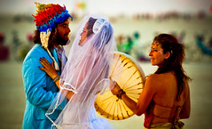 Playa Wedding (Jeff's Canon) Tags: city wedding man black rock playa burning 2011