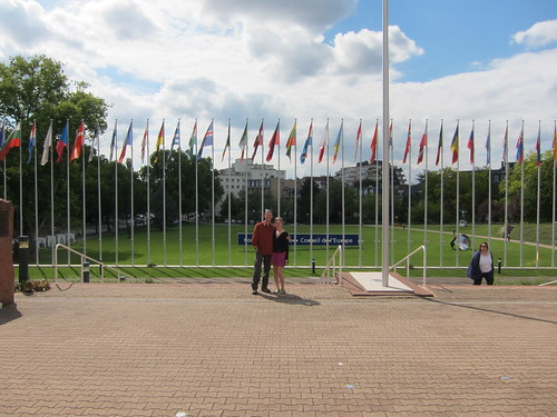 Outside the European  Parliment