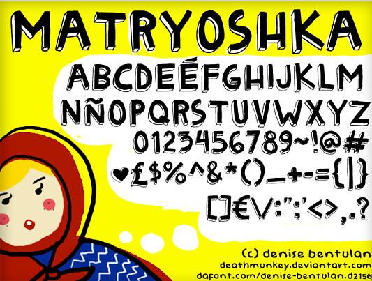 Matryoshka - Font