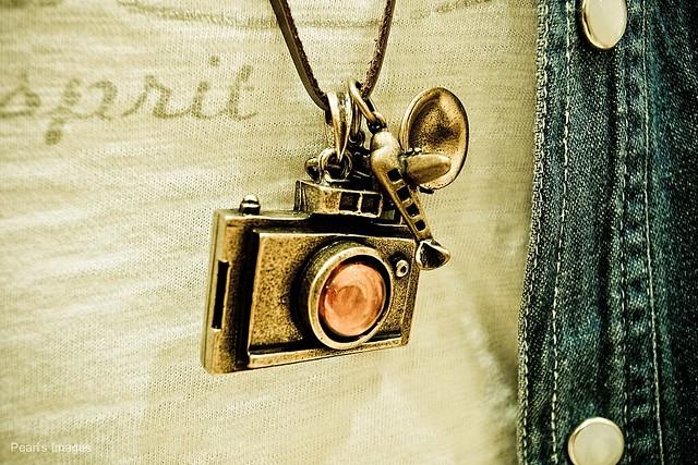可愛的相機項鍊