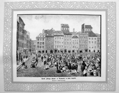 23. Rynek Starego Miasta w dzien targowy, 1889