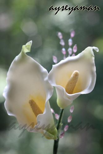 şeker hamurundan gala çiçeği