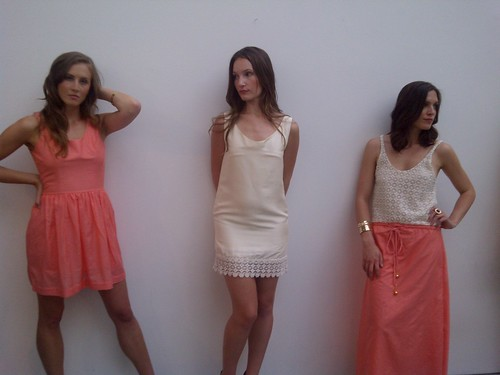 Three Looks in White + Coral