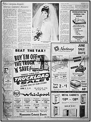 Hammonton News - June 2, 1966 (BACKYard Woods Explorer) Tags: 1966 southjersey vintageadvertising hammonton newberrys newspaperscan rcawhirlpool june21966