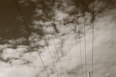 How am I gonna fix these cables to the sky? (martinaferlin) Tags: trip school friends sky cloud milan clouds digital florence nuvole milano digitale cables cielo bologna firenze cavi canoneos5dmarkii