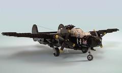 P-61B Black Widow (1) (Mad physicist) Tags: lego military wwii blackwidow northrop p61 nightfighter p61b