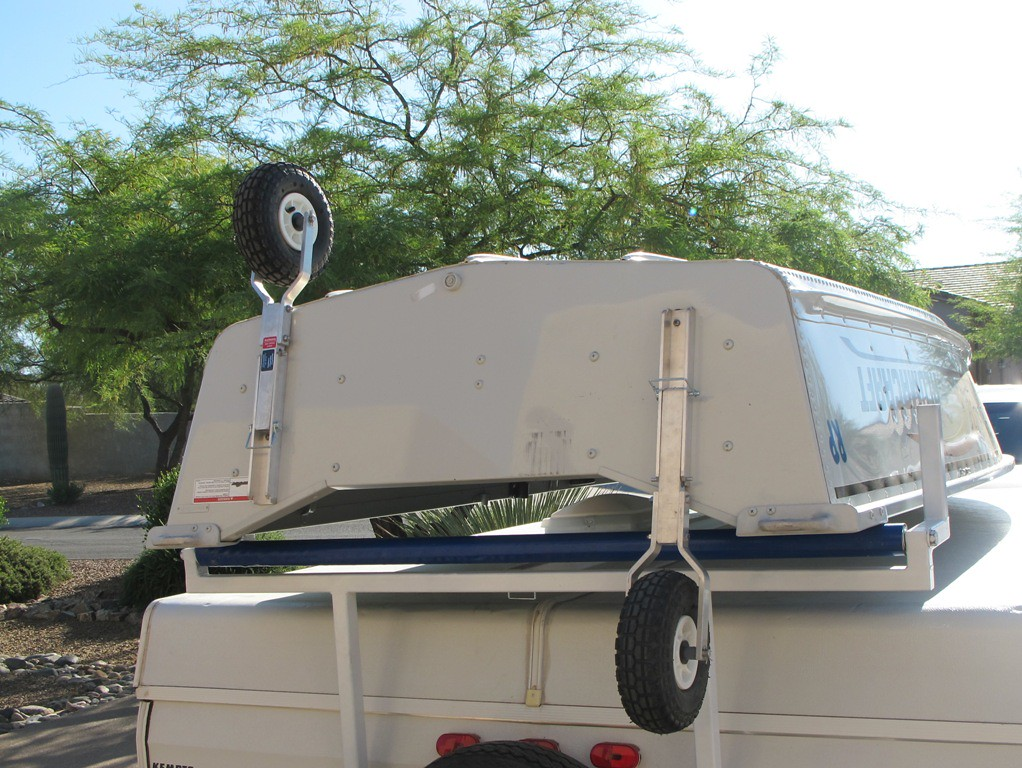Popup Camper Boat Rack Modification For Those Who Like Boats