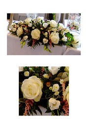 Vintage Top Table (Vicky Spence) Tags: flowers rose vintage weddingflowers whiterose astilbe lisianthus toptable