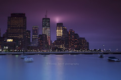 Hidden Tribute lights (francis023) Tags: nyc boats manhattan september11 skycrapers pier40 financialdistricts tributelights newwtc nikond300 911tenthyearanniversary