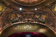 The Art above the Proscenium (Frank C. Grace (Trig Photography)) Tags: red boston ma gold theater chinatown theatre pentax decorative stage massachusetts paintings performingarts newengland murals muse angels restored restoration ornate kellogg ultrawide metropolitan hdr 1925 k5 putto proscenium theatredistrict wangfamily photomatix tonemapped 816mm trigphotography clarenceblackall frankcgrace thremont maxshoolman