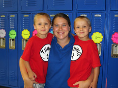 Zach and Alex are going to miss Ms Kate, who taught them for all 16 months they were at NHA