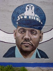 Police and Firefighters Memorial Mural, 49th & Loomis (artistmac) Tags: chicago painting illinois mural memorial artist cops painted police viaduct il fallen cop fireman killed firemen firefighter department firefighters lineofduty backoftheyards killedinthelineofduty 49thandloomis