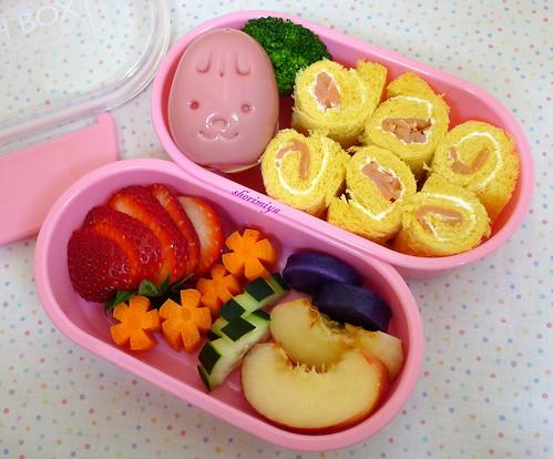 Pink Bunny Egg Bento by sherimiya ♥