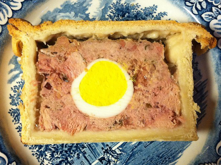Veal and Ham Pie Cross-section
