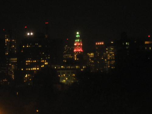 First sight of the new colors on the Woolworth Building
